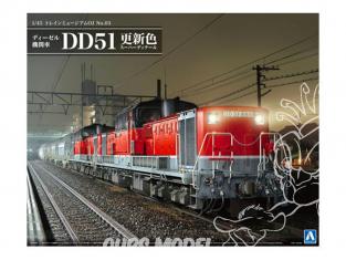 Aoshima maquette militaire 09987 Locomotive diesel DD51 avec éléments photogravés 1/45