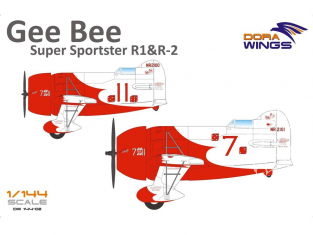 Dora Wings maquette avion DW14402 Gee Bee Super Sportster R1 & R2 2 en 1 1/144