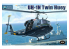 "Kitty Hawk maquette hélicoptère kh80158 HÉLICOPTÈRE US UH-1N ""TWIN HUEY"" avec 3 figurines US NAVY 1980 1/35"