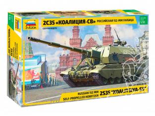Zvezda maquette militaire 3677 Canon automoteur Russe 2S35 Koalitsiya-SV 1/35