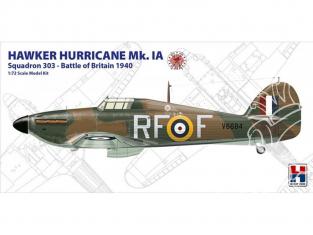 Hobby 2000 maquette avion 72001 Hawker Hurricane Mk.IA Esadron 303 - Bataille d'Angleterre 1940 1/72