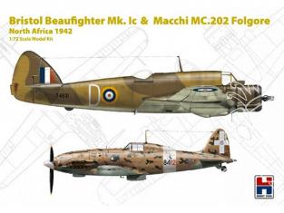 Hobby 2000 maquette avion 72005 Bristol Beaufighter Mk.IC & Macchi MC.202 Folgore Afrique du Nord 1942 1/72