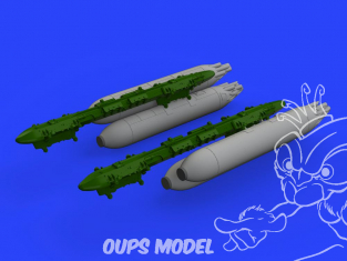 Eduard kit d'amelioration avion brassin 648478 Armement SUU-7 Dispenser avec tubes prolongés 1/48