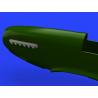 Eduard kit d'amelioration avion brassin 648486 Pipes d'échappement avec carrenages P-51D Eduard 1/48