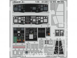 Eduard photodécoupe hélicoptére 33228 Zoom Amélioration MH-60L Kitty Hawk 1/32