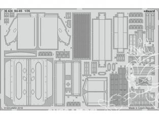 Eduard photodecoupe militaire 36424 Amélioration SU-85 Zvezda 1/35