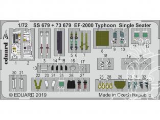 Eduard photodecoupe avion 73679 Amélioration EF-2000 Typhoon Monoplace Revell 1/72