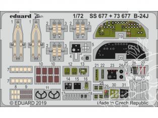 Eduard photodecoupe avion 73677 Intérieur B-24J Hasegawa 1/72