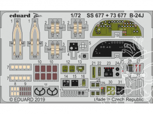 Eduard photodecoupe avion SS677 Zoom Intérieur B-24J Hasegawa 1/72