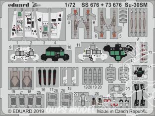 Eduard photodecoupe avion 73676 Amélioration Sukhoi Su-30SM Zvezda 1/72