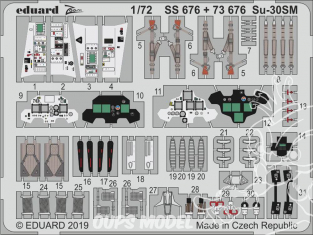 Eduard photodecoupe avion SS676 Zoom Amélioration Sukhoi Su-30SM Zvezda 1/72