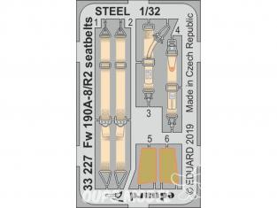 Eduard photodécoupe avion 33227 Harnais métal Focke Wulf Fw 190A-8/R2 Revell 1/32