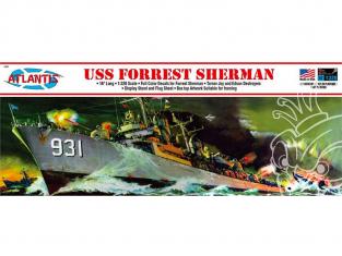 Atlantis maquette bateau H352 USS Forrest Sherman Destroyer 1/320