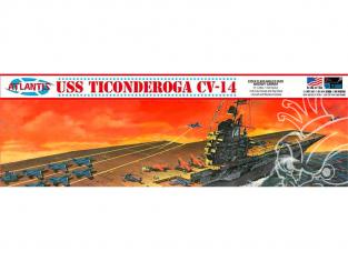 Atlantis maquette Bateau R611 USS Ticonderoga CV-14 porte avions 1/500
