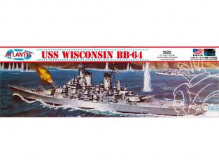 Atlantis maquette Bateau H463 USS Wisconsin BB-64 Cuirassé 1/535
