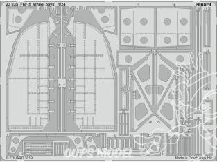 Eduard photodecoupe avion 23035 Baies de roues F6F-5 Hellcat Airfix 1/24