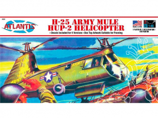 Atlantis maquette helico A502 H-25 Army Mule Hup Helicopter 1/48