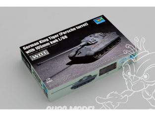 TRUMPETER maquette militaire 07161 Char allemand Tiger King (tourelle Porsche) canon 105mm kwk L / 68 WWII 1/72