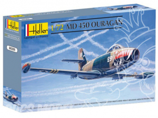 Heller maquette avion 80201 MD450 Ouragan 1/72