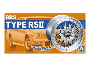"Aoshima maquette voiture 52419 Jantes BBS Type RSII 17"" et pneus 1/24"