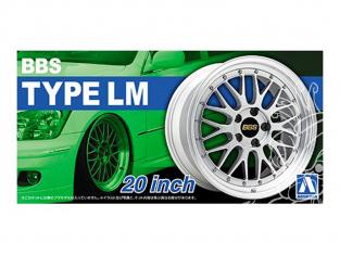 """Aoshima maquette voiture 52754 Jantes BBS Type LM 20"""" et pneus 1/24"""