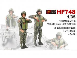 Hobby Fan kit personnages HF748 ROCMC LVTH6 équipage de véhicule 1/35