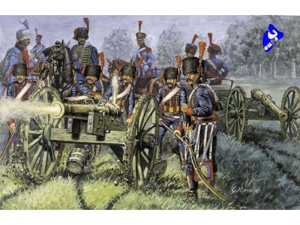 Italeri maquette historique 6018 artillerie garde Français 1/72
