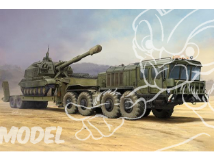 TRUMPETER maquette militaire 01039 Russie KZKT-7428 semi-remorque et remorque KZKT-9101 1/35