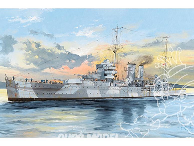 TRUMPETER maquette bateau 05351 Croiseur Royal HMS York 1/350
