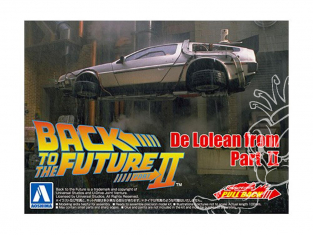 Aoshima maquette voiture 54765 DeLorean Retour vers le futur 2 1/43