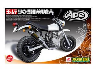 Aoshima maquette moto 48986 Honda APE50 Yoshimura 1/12