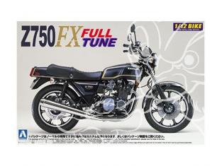 Aoshima maquette moto 42168 Kawasaki Z750FX Full Tune 1/12