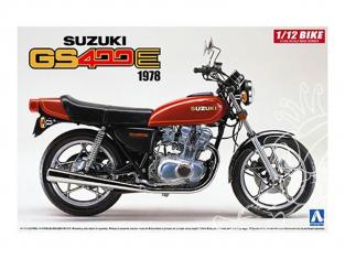 Aoshima maquette moto 53119 Suzuki GS400E 1978 1/12