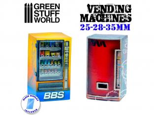 Green Stuff 504583 Distributeurs Automatiques en Résine 1/48