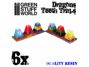 Green Stuff 504033 6x Dents de Dragon en Résine 1/48