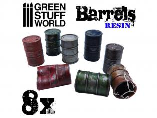 Green Stuff 504071 8x Barils en Résine