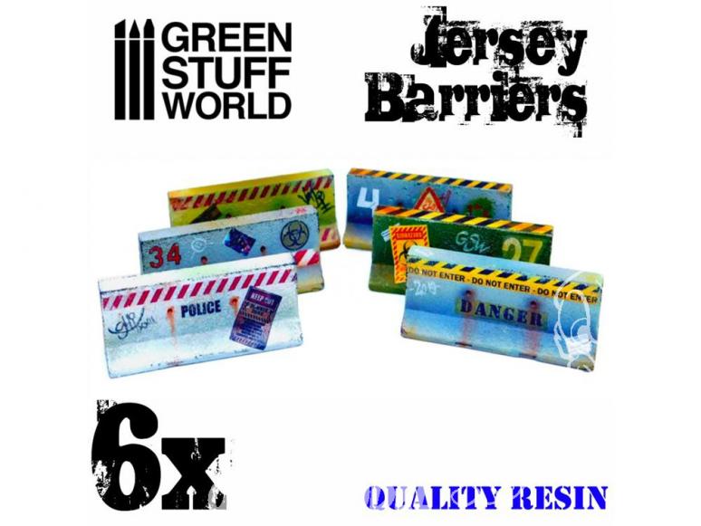 Green Stuff 504026 6x Murs Jersey 1/48