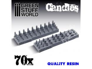 Green Stuff 504637 70x Bougies en Résine