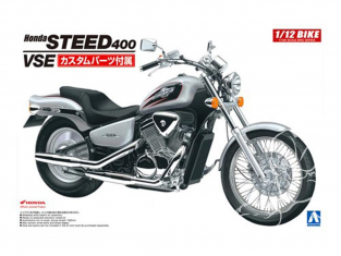 Aoshima maquette moto 53980 Honda Steed 400 VSE 1995 1/12