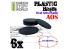 Green Stuff 503883 Socles Plastiques Ovale 60x35mm AOS