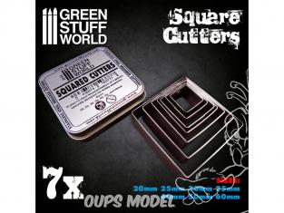 Green Stuff 503777 Cutters Carrés pour Bases