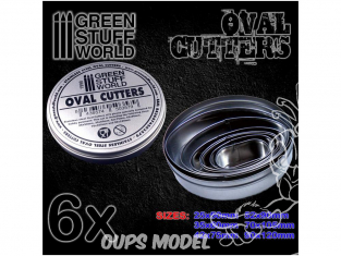 Green Stuff 503579 Cutters Ovales pour Bases