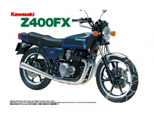 Aoshima maquette moto 41512 Kawasaki Z400FX 1979 1/12