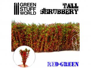 Green Stuff 504286 Grands Arbustes - Rouge Vert