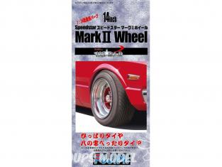"""Fujimi maquette voiture 193397 Jantes Speedstar Mark II 14"""" et pneus 1/24"""
