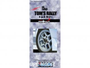 "Fujimi maquette voiture 193083 Jantes Tom's Rally 15"" et pneus 1/24"