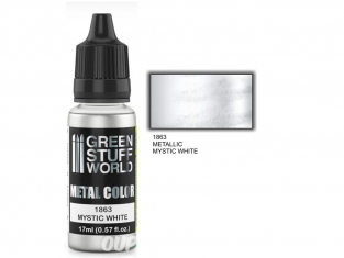 Green Stuff 502220 Peinture metallisee MYSTIC WHITE