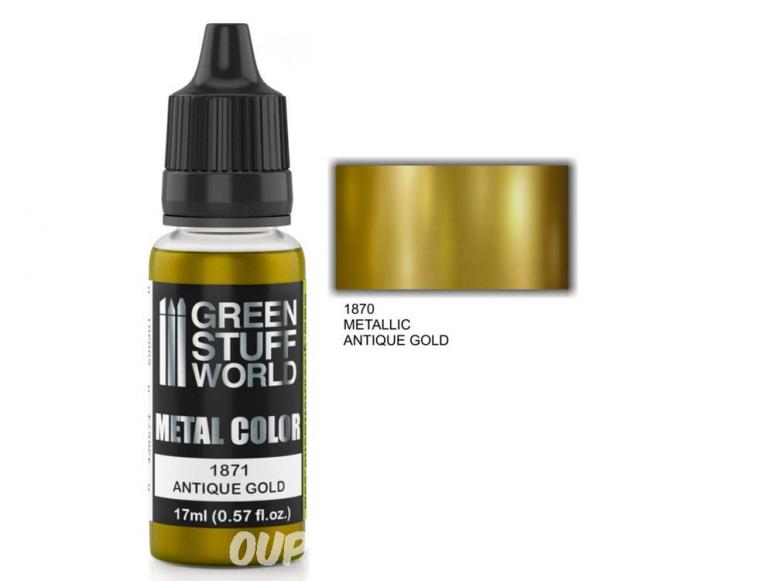 Green Stuff 502305 Peinture metallisee ANTIQUE GOLD