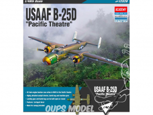 "Academy maquette avion 12328 USAAF B-25D ""Pacific Theatre"" 1/48"