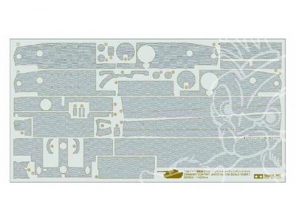 TAMIYA decalques 12647 Stickers Zimmerit Tiger I 1/35